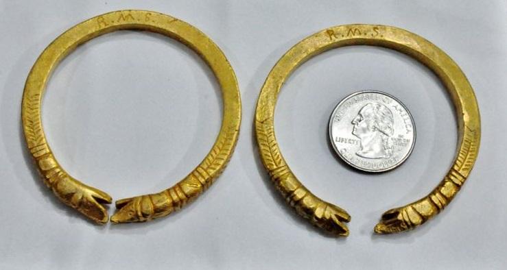 R.M.S.'s gold bracelets