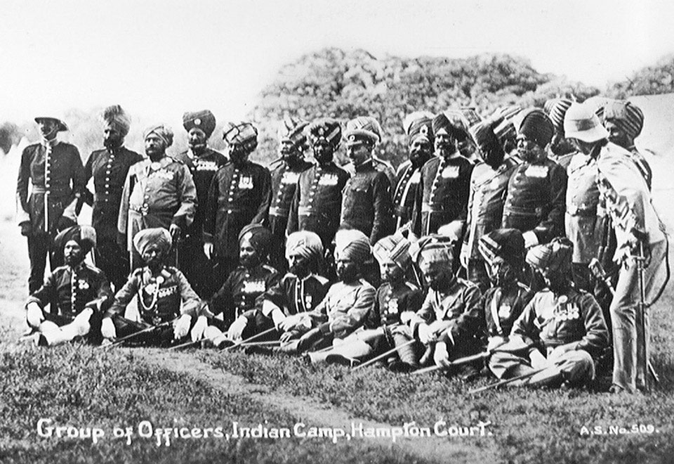 Indian officers, Hampton Court, 1911