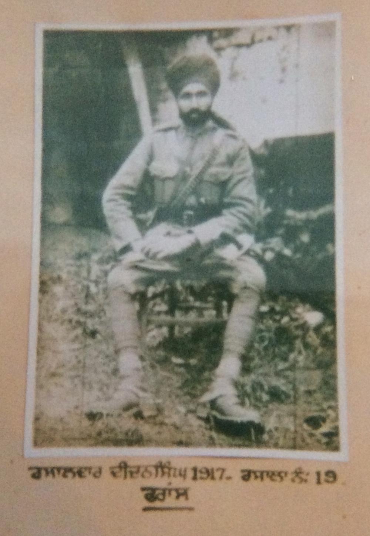 Jemadar Didan Singh, France, c. 1917