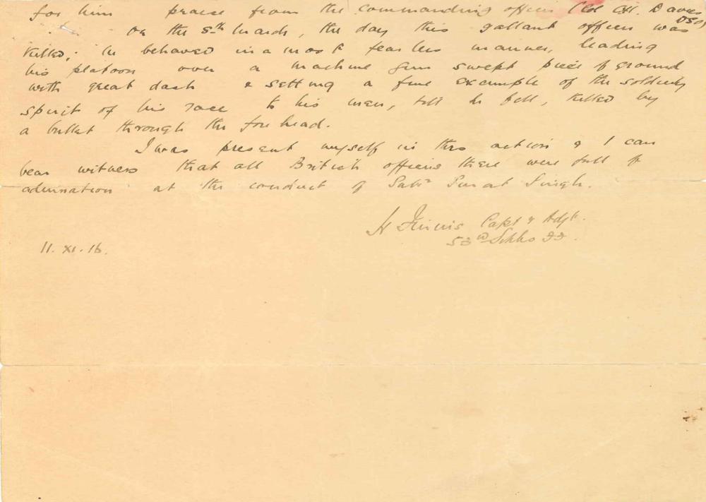 Captain Finnis' letter (2/2)