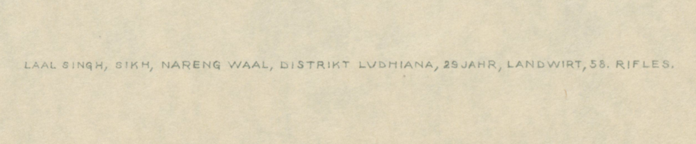 Lal Singh, c. 1916