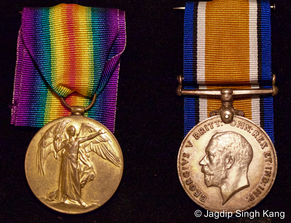 Pair of Thakar Singh's medals