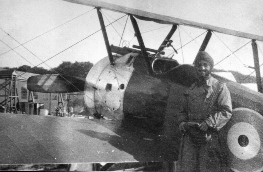 With his Sopwith Camel fighter, 1917