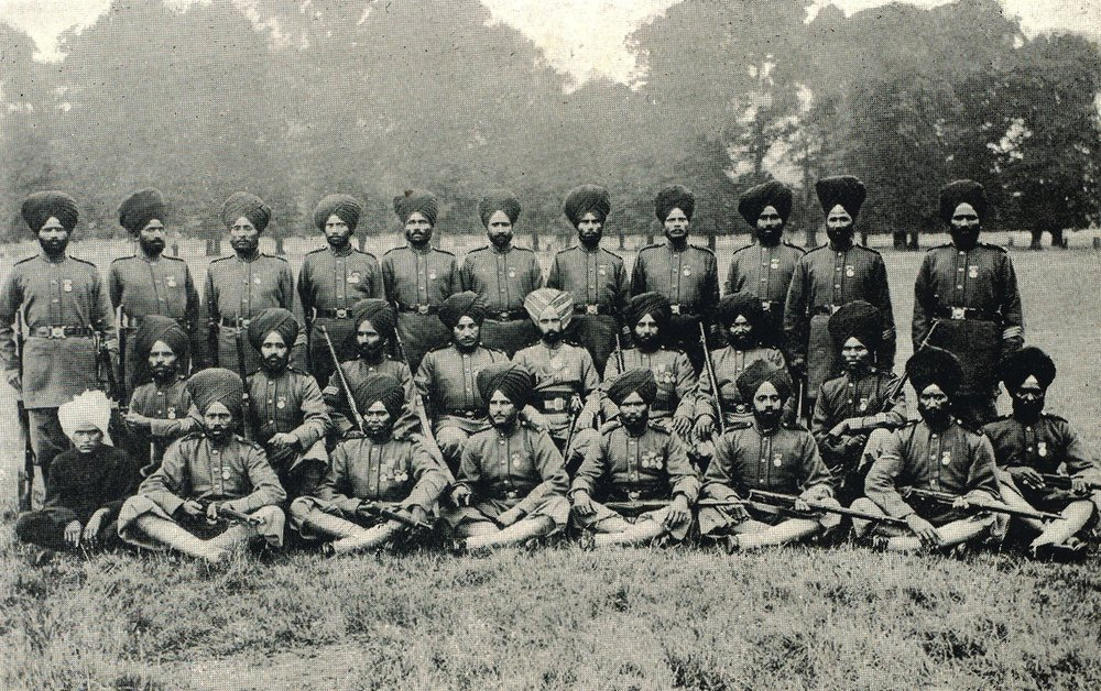23rd Sikh Pioneers, Hampton Court, 1902