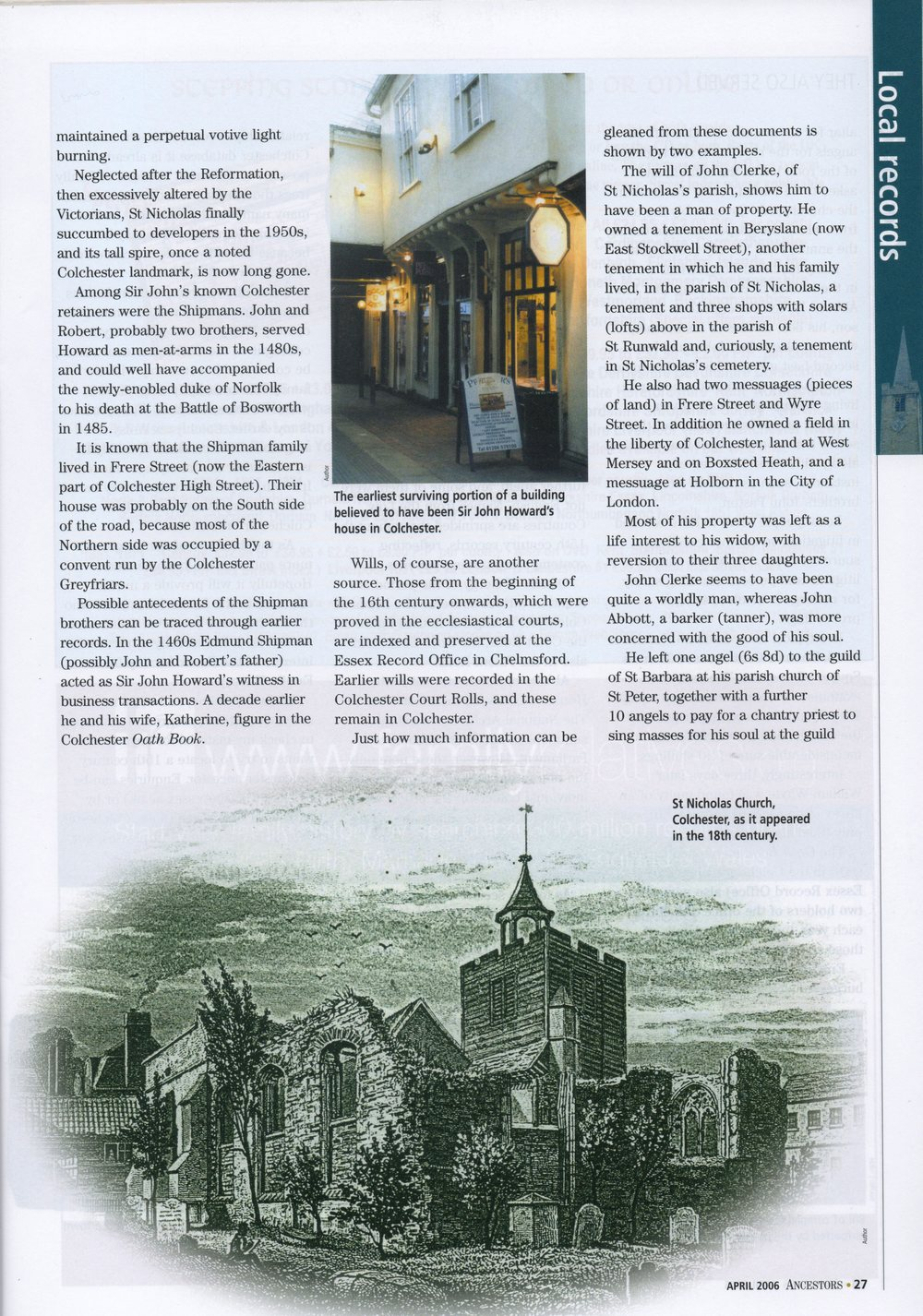 Ancestors magazine April 2006, p. 27.jpg