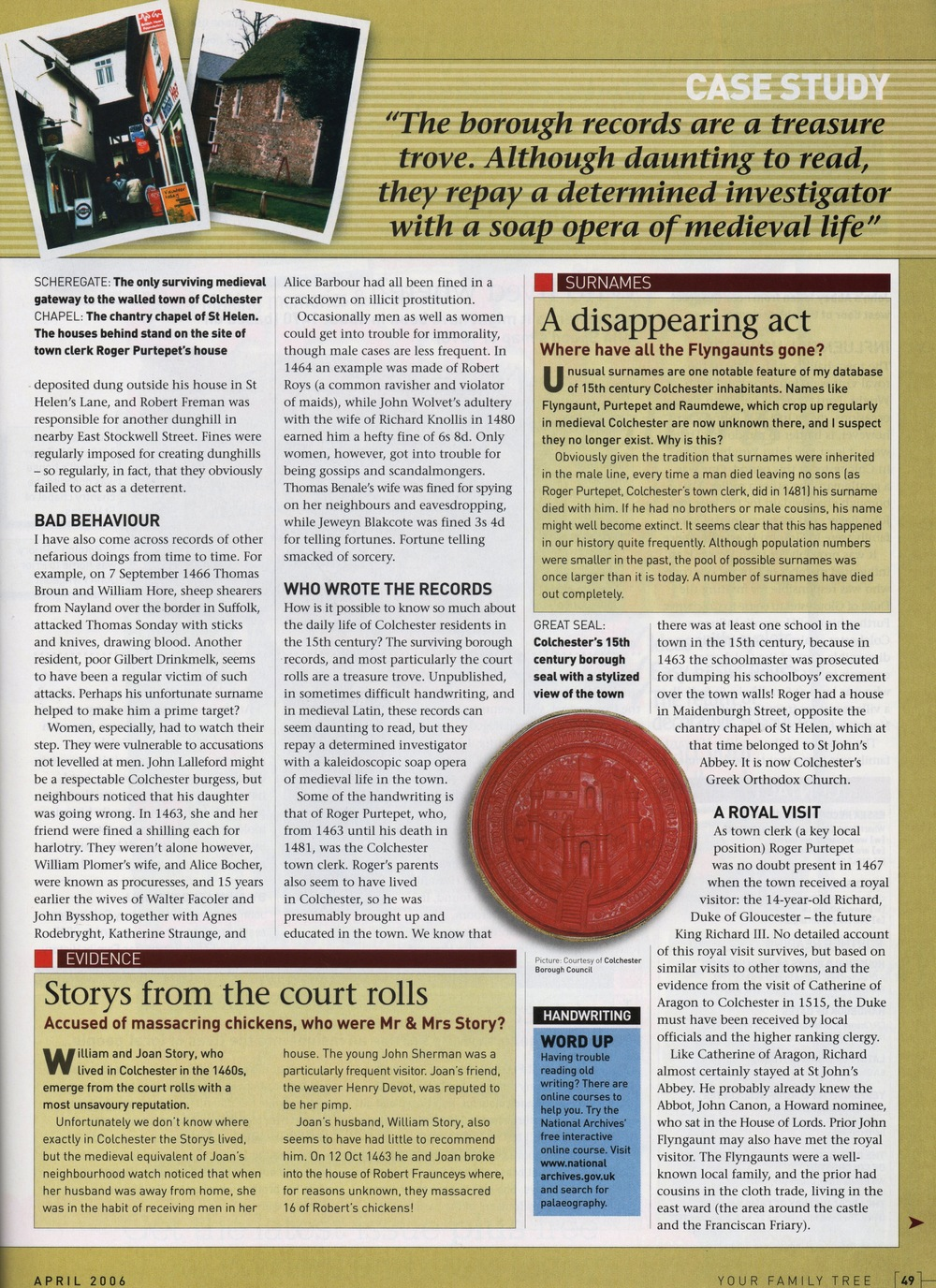 Your Family Tree magazine, April 2006b.jpg