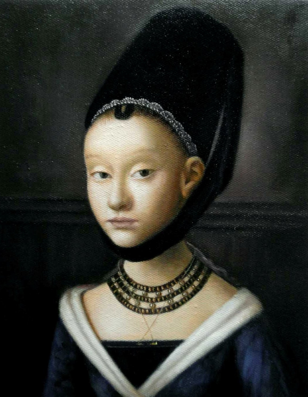 Eleanor's niece, Viscountess Lisle – a copy of the portrait by Petrus Christus, owned by John Ashdown-Hill
