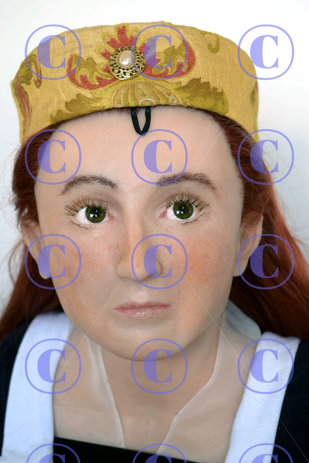 Facial reconstruction of Anne Mowbray, Duchess of York and Norfolk, daughter-in-law of Edward IV and niece of Eleanor Talbot (by Amy Thornton, alumna of the University of Dundee Msc forensic art course).