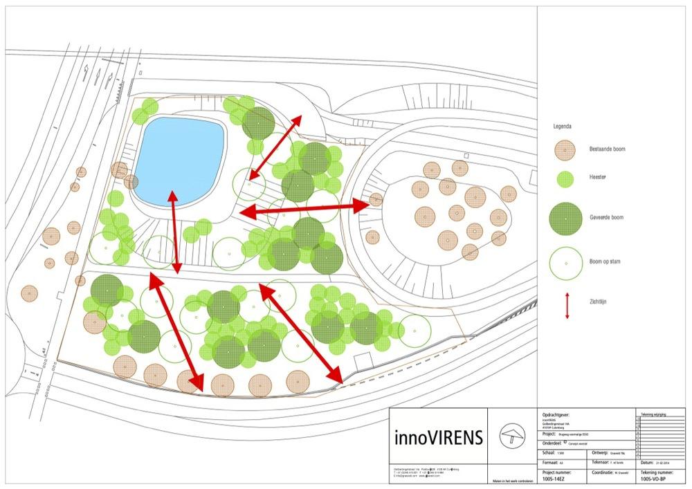 Voorlopig ontwerp voor de groene inrichting op basis van de IBR