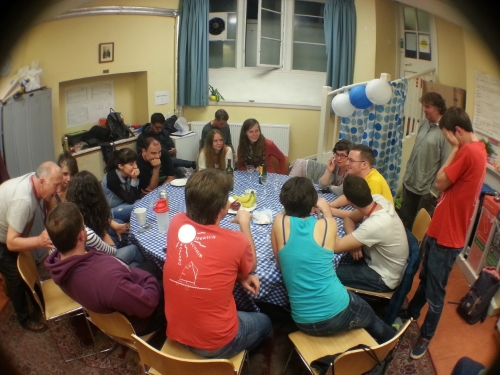 Nice moments in the volunteers HQ at jusr Festival. Photo Azlia Asmira