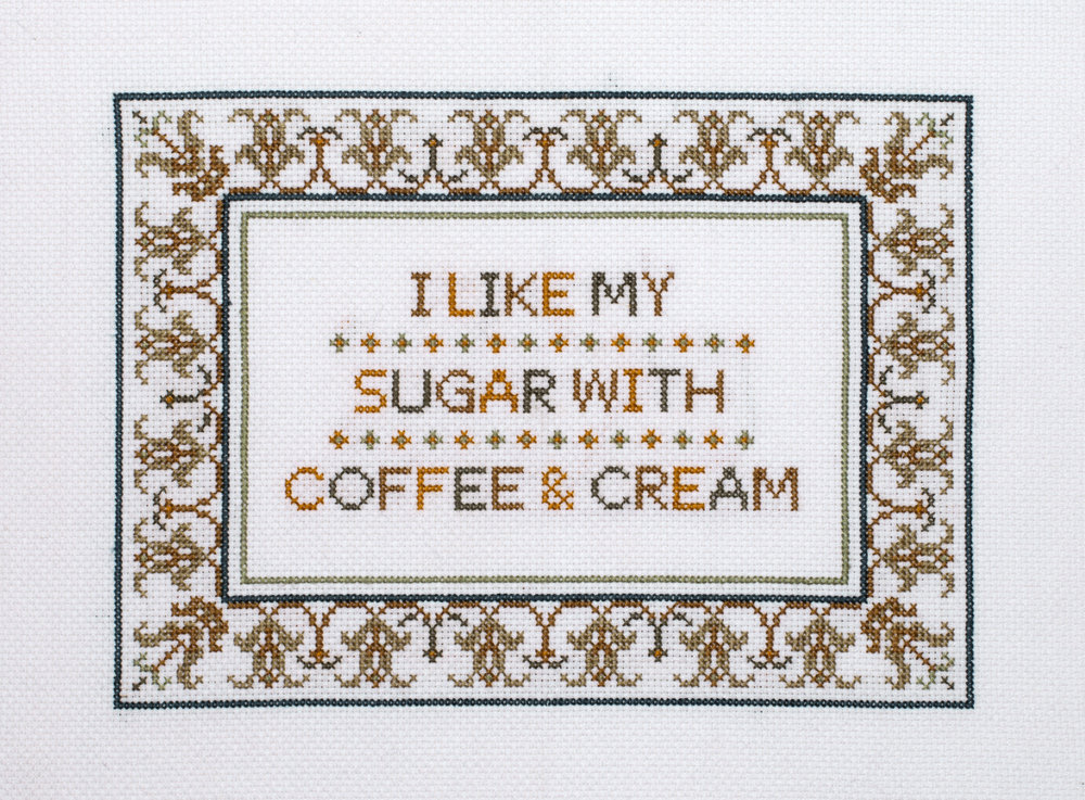'Coffee and Cream' by Not Your Standard Sampler.