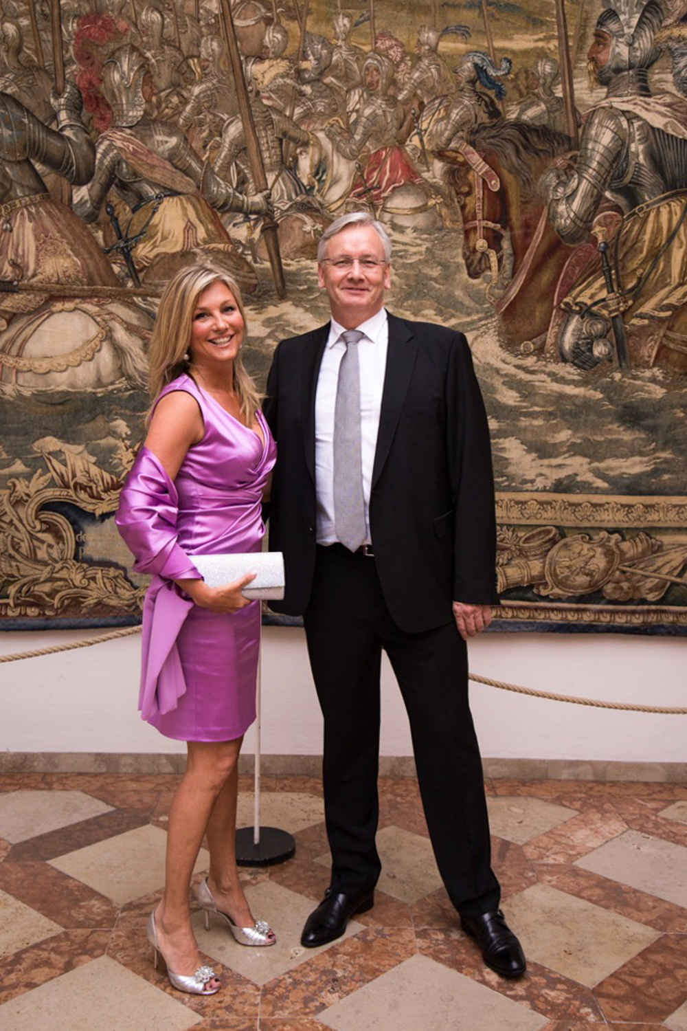 Henrik Starup-Hansen and I Just before entering the Galla with Crown Prince Couple of Denmark Mary and Frederik.   Crown Prince Frederik and  Crown Princess Mary of Denmark  receive guests at the Grand Dinner at the Residency during their visit in Germany on May 20, 2015 in Munich, Germany.  May 20, 2015