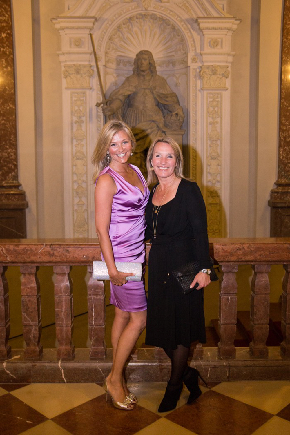 P aparazzi  photo of ex  Minister of Justice   and   Minister of Foreign Affairs   Lene Espersen and Portrait Photographer Charlotte Starup-Hansen.     Crown Prince Frederik and  Crown Princess Mary of Denmark  receive guests at the Grand Dinner at the Resident, Residency during their visit in Germany on May 20, 2015 in Munich, Germany.  May 20, 2015