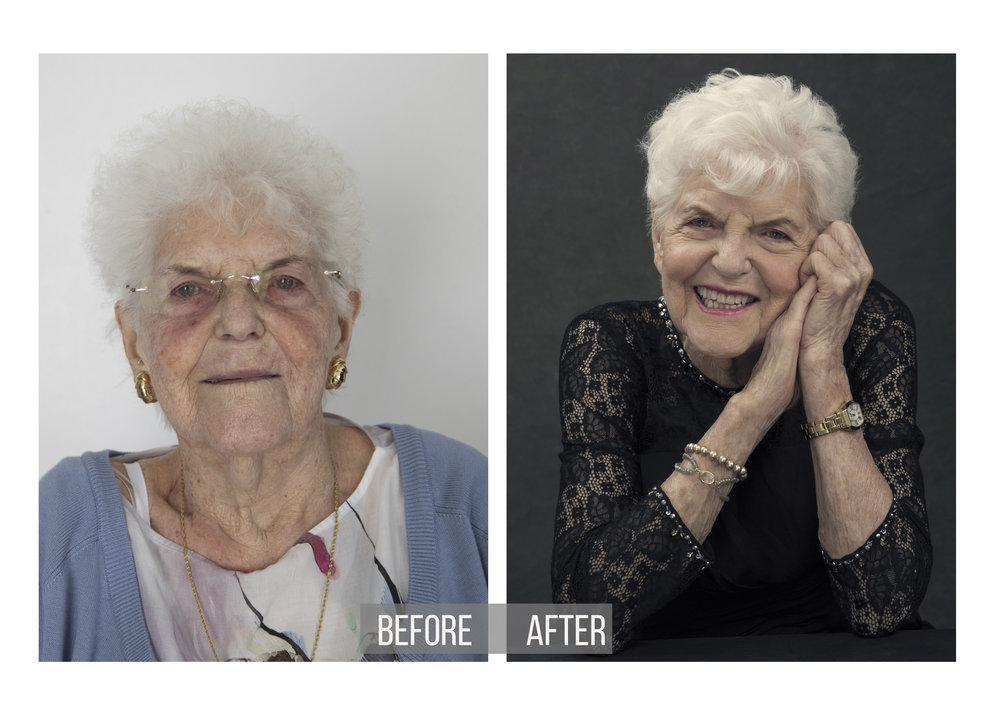Grandmom Portrait | Before and After