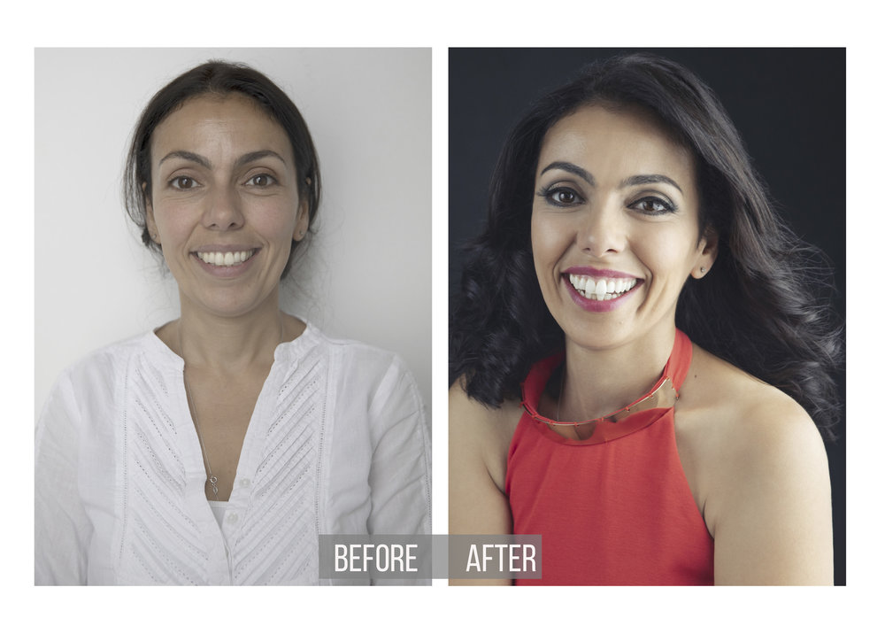 Glamour Before and after Portraiture | Model Transformation