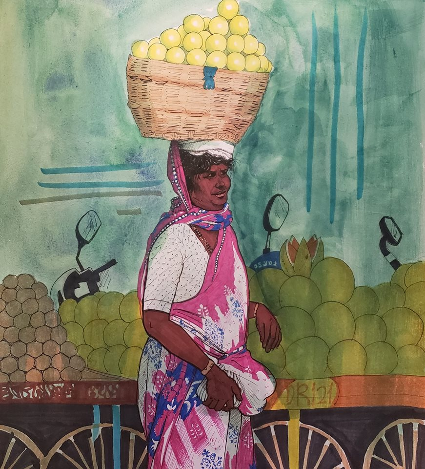 Fruit-seller
