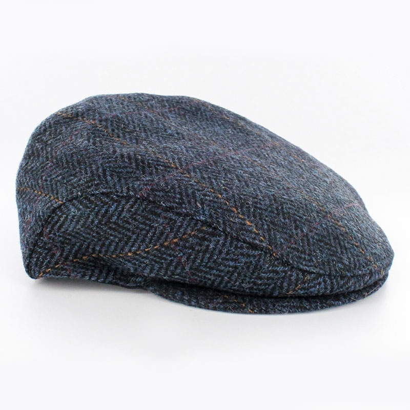 e9a98374500b7 Mucros Weavers Trinity Hat Blue Herringbone