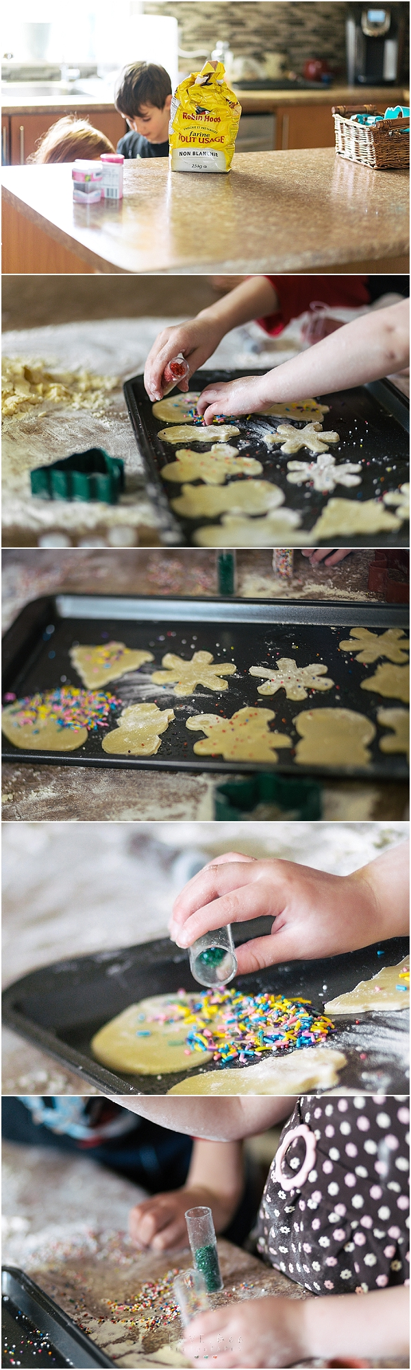 christmas baking cookies