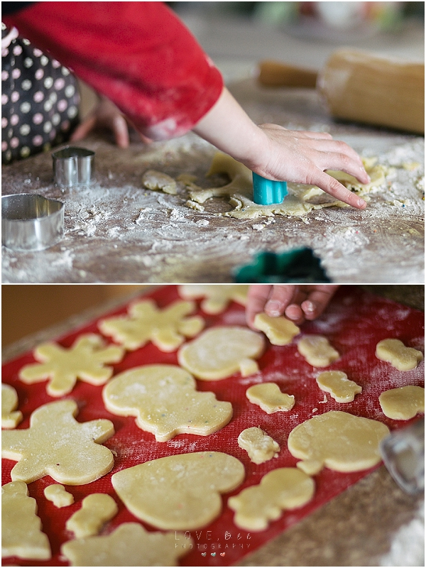 messy holiday cookies!