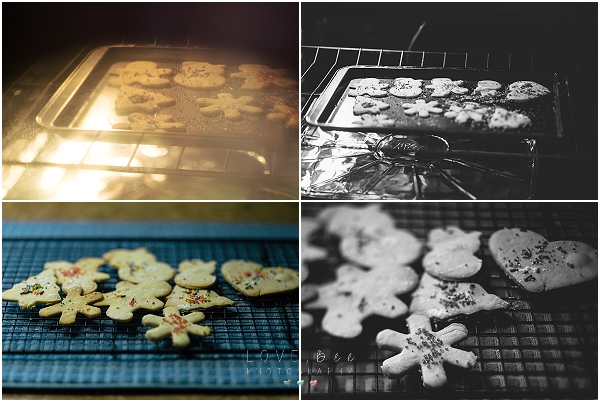 cookies baking in the oven