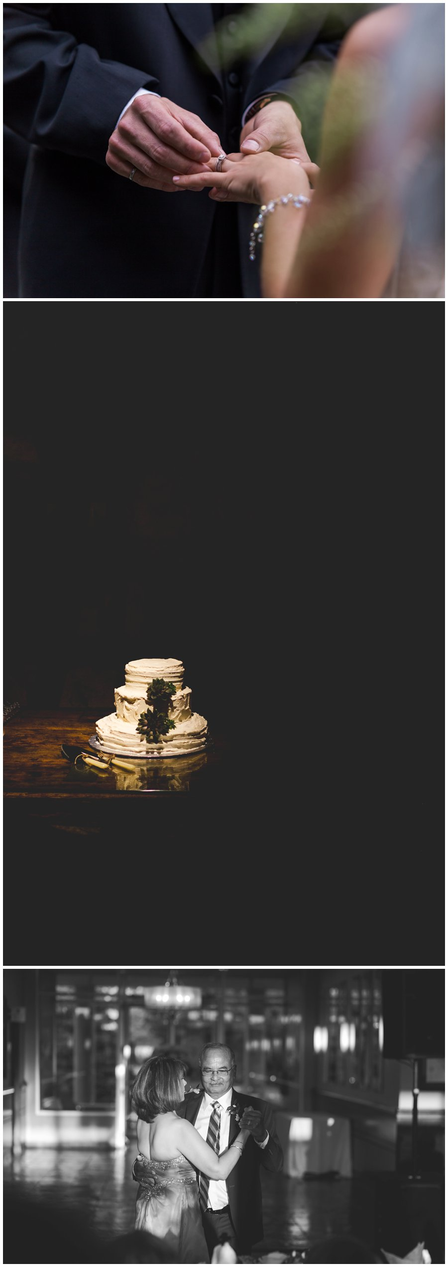 dramatic cake photo wedding