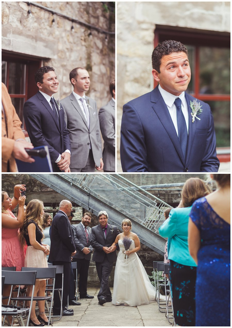 The ALton Mill outdoor wedding ceremony