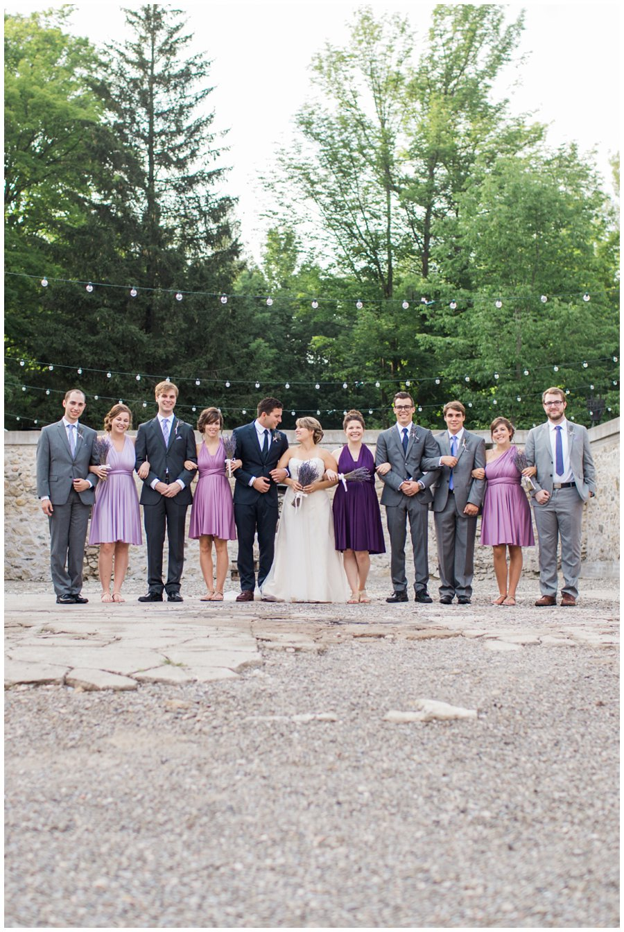 wedding party in purple