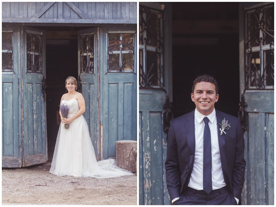 Bride and Groom at ALton Mill Caledon