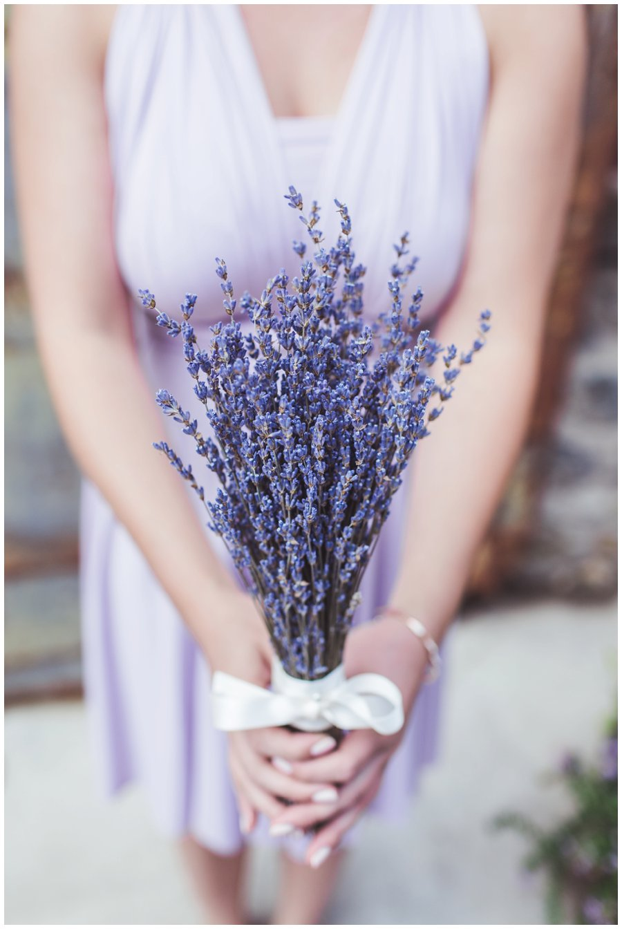 DIY lavender bouquets wedding