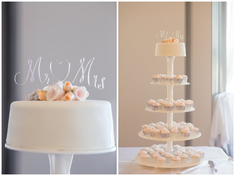 peach coloured wedding cake