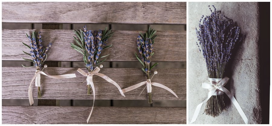 DIY lavender wedding decor