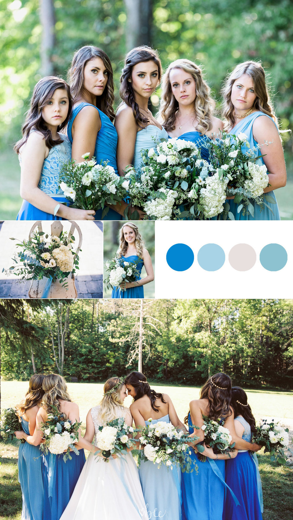 blue wedding in summer