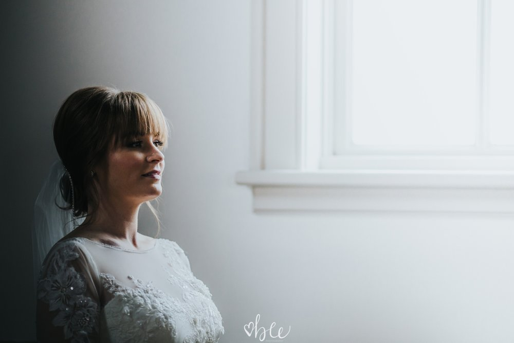 moody indoor portraits of a Bride