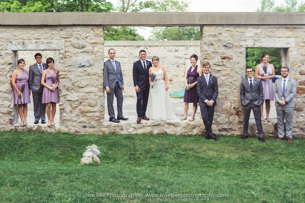 Alton Mill Wedding Party Portraits