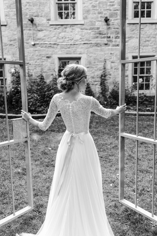milton town hall wedding portrait