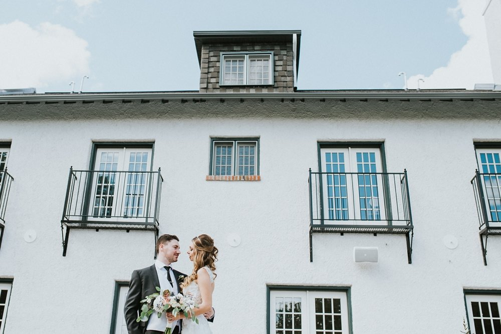 guild inn wedding portrait