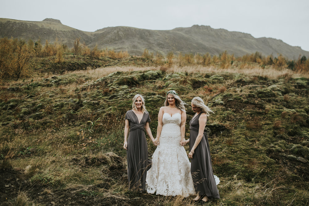 For this recent wedding in Iceland, I spend the morning with the Bride and her girls, while my second shooter hung out with the guys. We both stopped at different locations for photos.