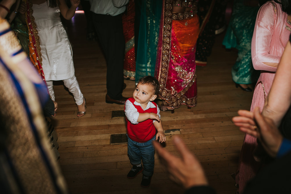 This little guy would not get off the dancefloor...and almost got knocked out a few times!