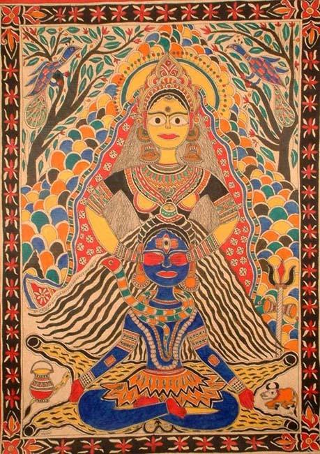 theworldpulse :     Parvati opens Shiva's third eye