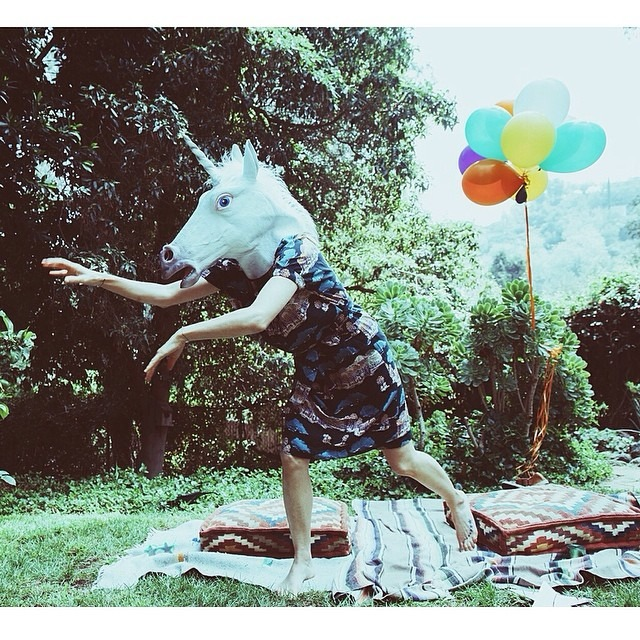 Unicorn & rainbows all day. every day. @melindalovesteele