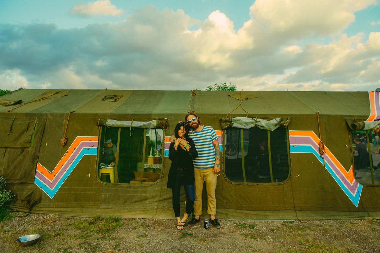 A Tent, me and my man painted at El Cosmico in Marfa, Texas.