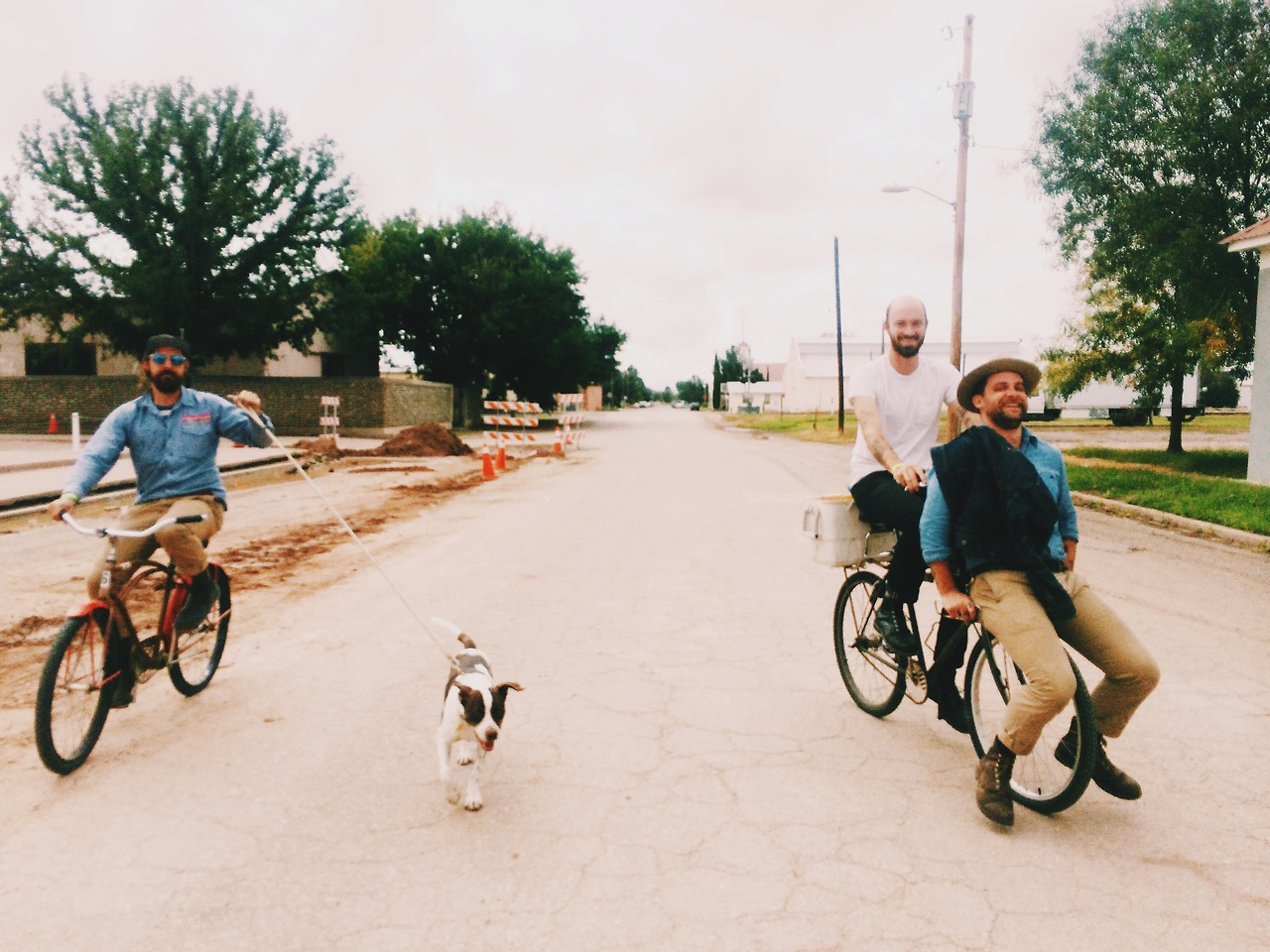 And this is our Favorite mode of transportation in Marfa, Texas with  The ding dongs i hang with on the regular. Ryan and Caleb from Land. My favorite designers and all around  amazing dudes.