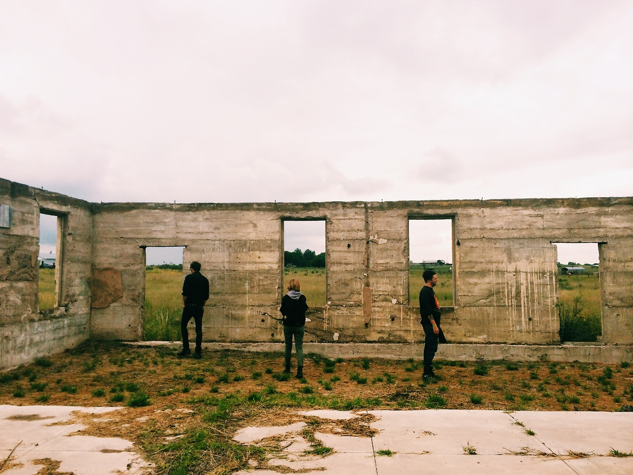 The army barack ruins. Marfa, Texas 2014
