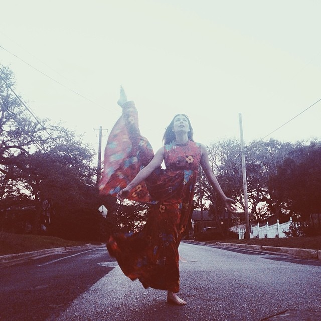 Caitlyn bought the brightest, loudest palazzo pants in all of Austin. #WHPdancers #vsco #vscocam