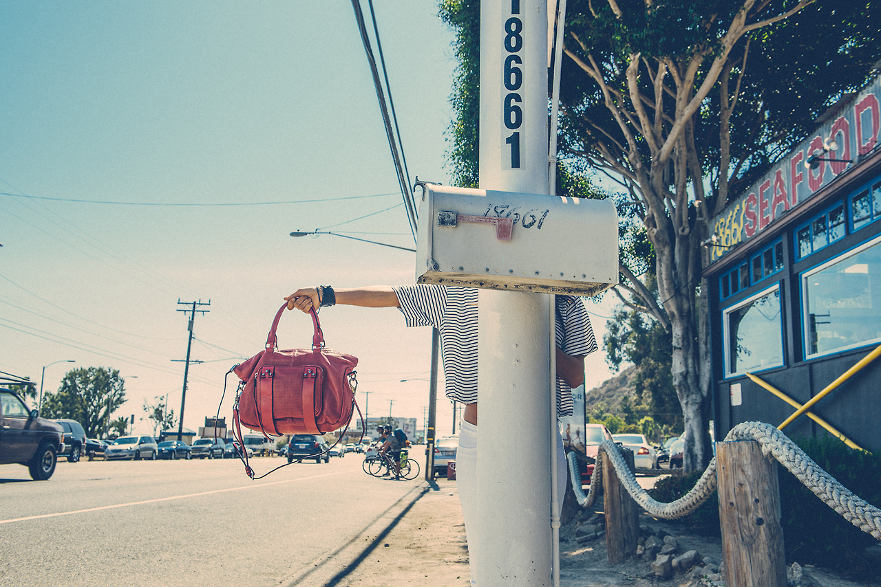 Outtake from our shoot with for She + Lo, On the mean streets of Malibu.
