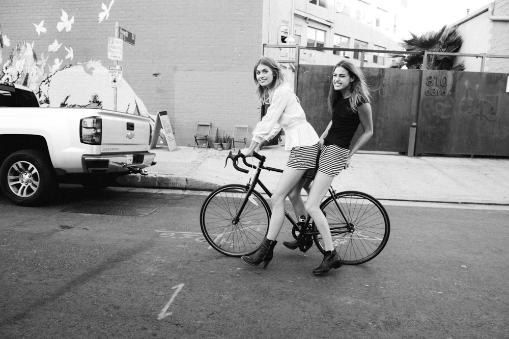 Abby Brothers and Annie McGinty. Serious cuteness on our Free People shoot the other day. Downtown LA, 2014.