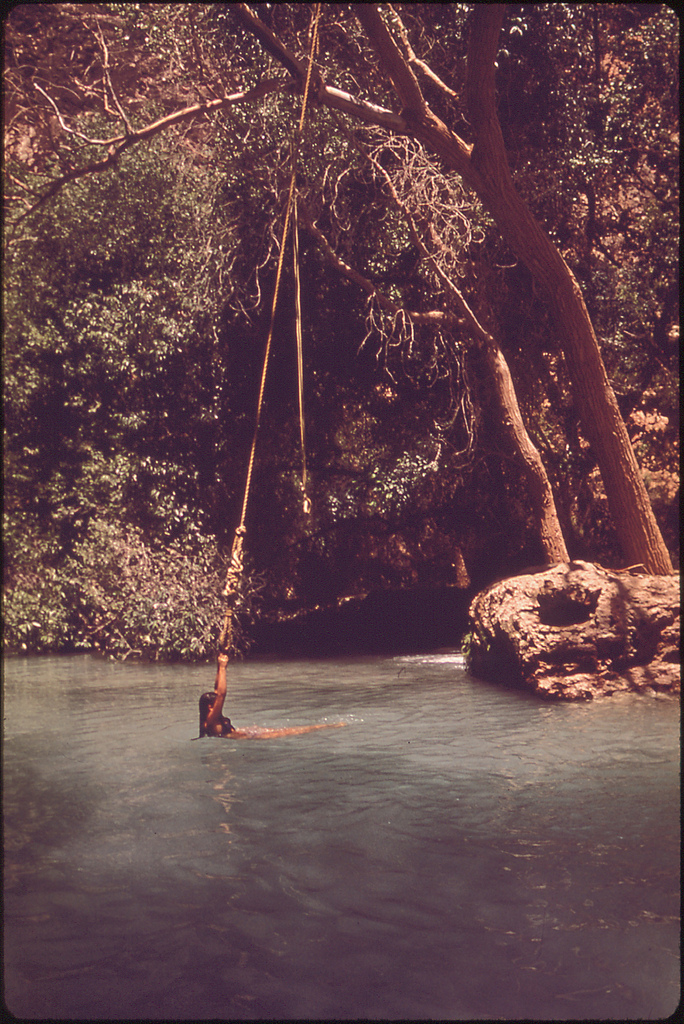 bobowoodlake :      cosmic-dust : endlessme :       Supai, Arizona  1972   Photo by Terry Eiler   Via  The Documerica Project