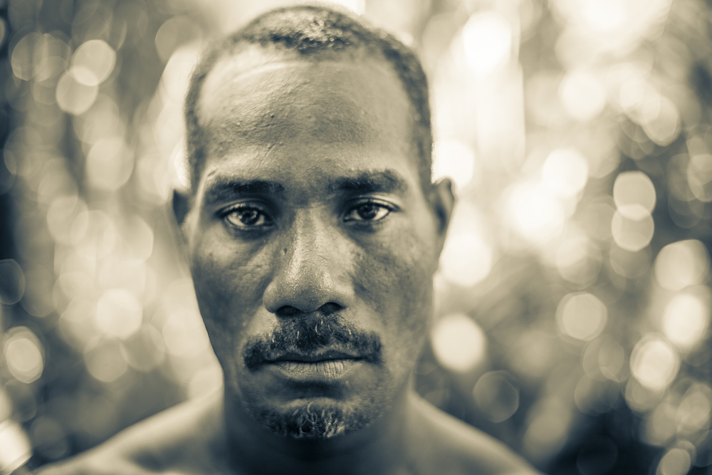 A portrait of Lonsdale, a Solomon Islander from the Makira Province and one of Dr. Uy's right-hand men. — in Solomon Islands.