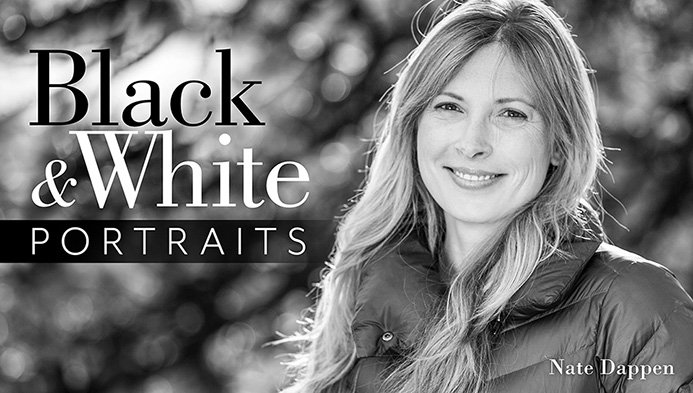 Learn to take beautiful black and white portraits from me nate dappen photography