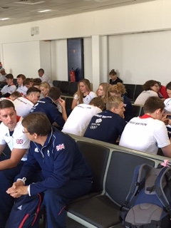 GB athletes waiting for the same plane :)